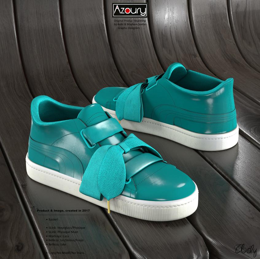 AZOURY - Basket Ady [Turquoise]