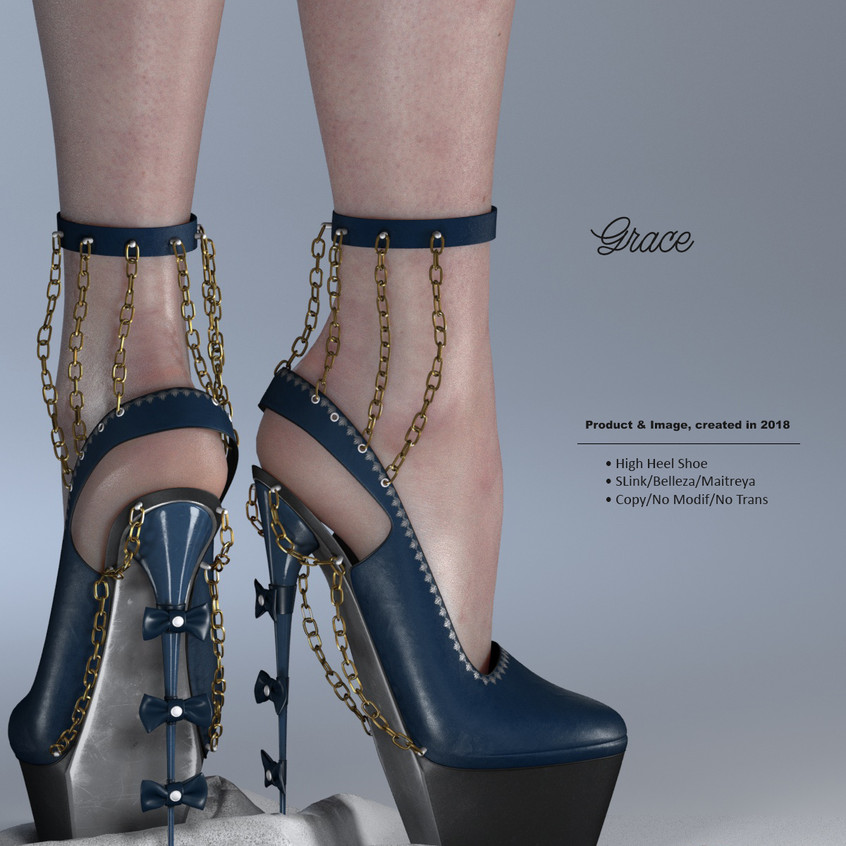 AZOURY - Grace High Heel Shoe {Blue}