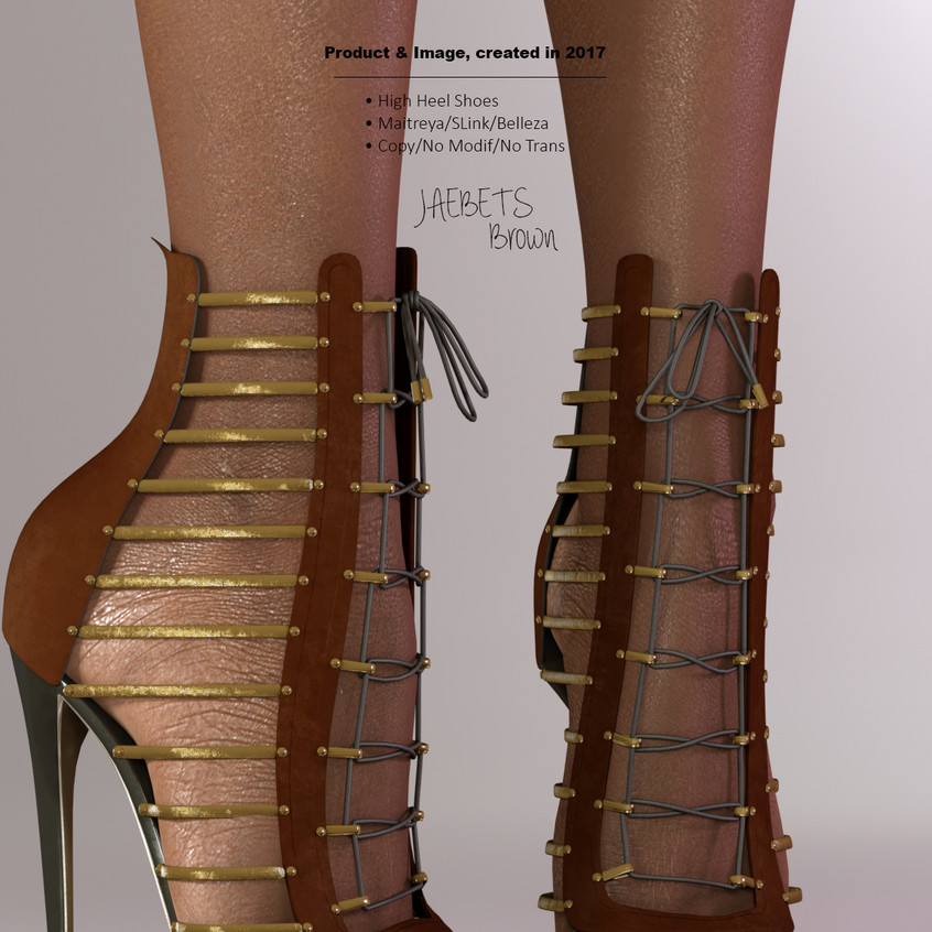 AZOURY - Jaebets high heel shoe [Brown]