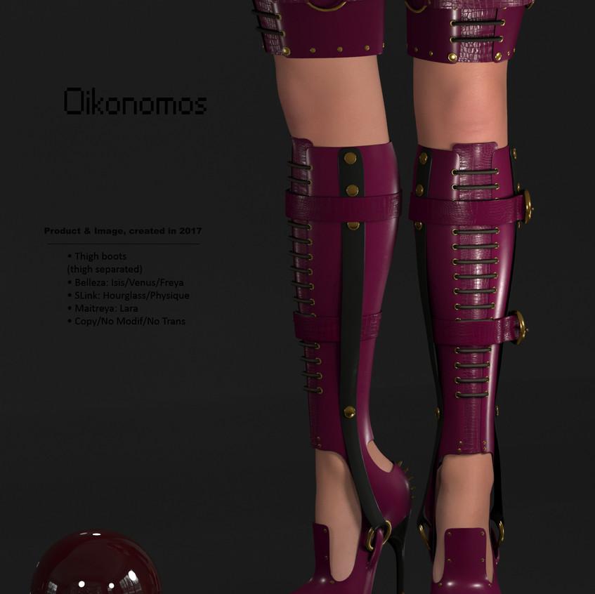 AZOURY - Oikonomos Thigh Boots [Fuschia]