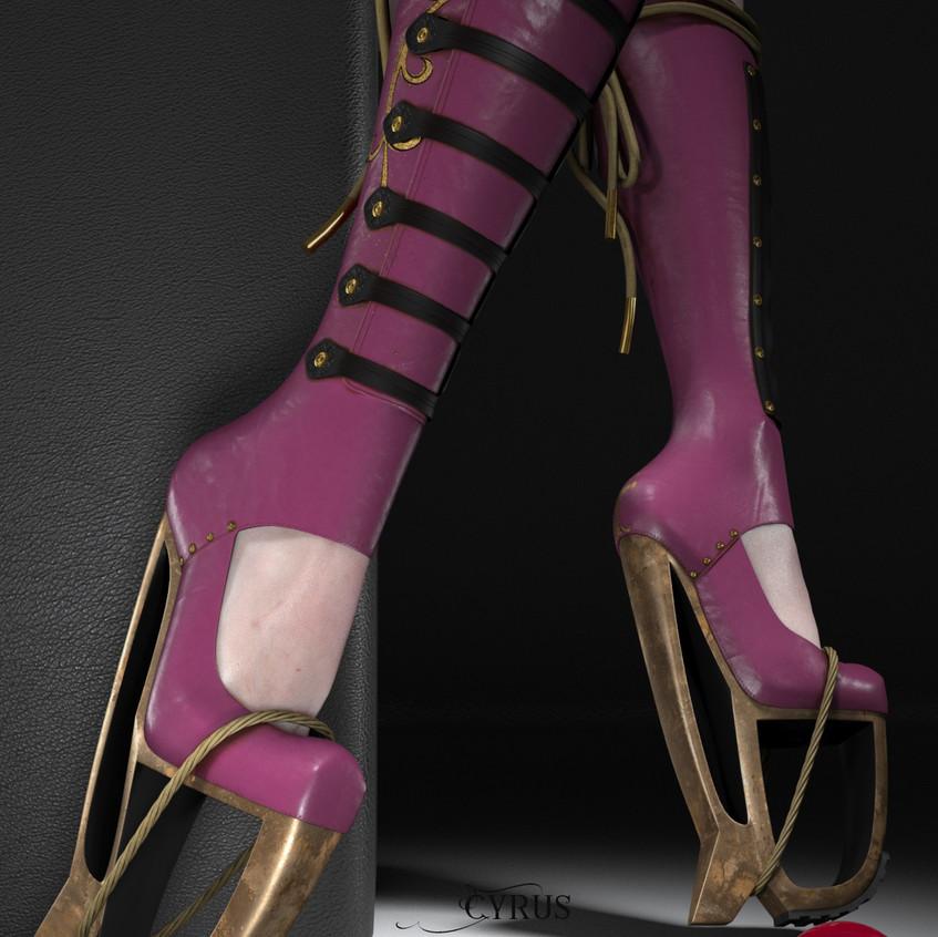 AZOURY - Cyrus Boots [Purple]