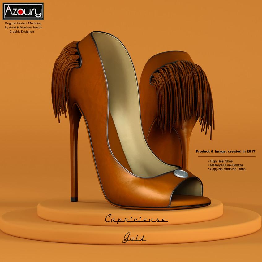 AZOURY - Capricieuse High Heel Shoe [Gold]