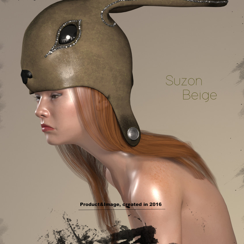 AZOURY - Suzon Leather Headwear [Beige]