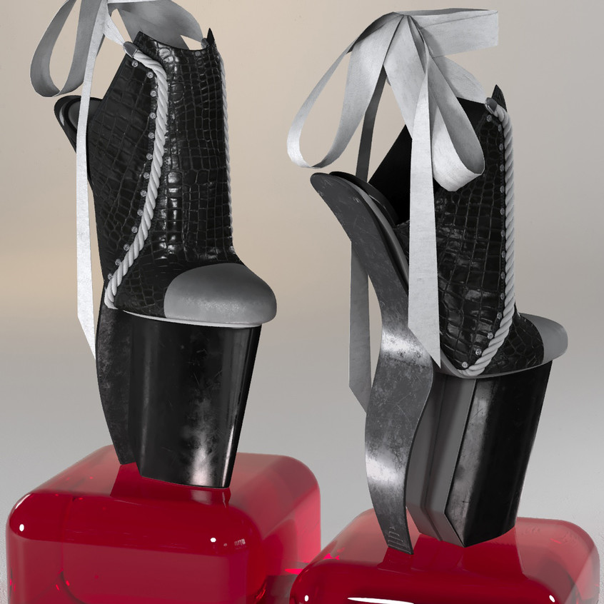 AZOURY - Keziah High Heel Shoe [Grey]