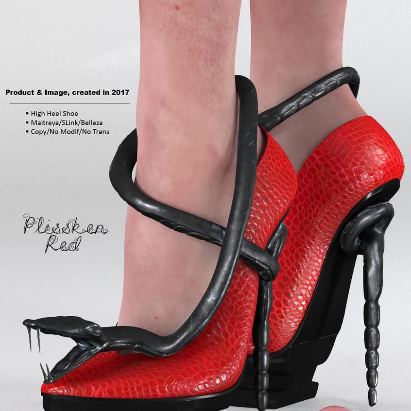 AZOURY - Plissken High Heel Shoe [Red]