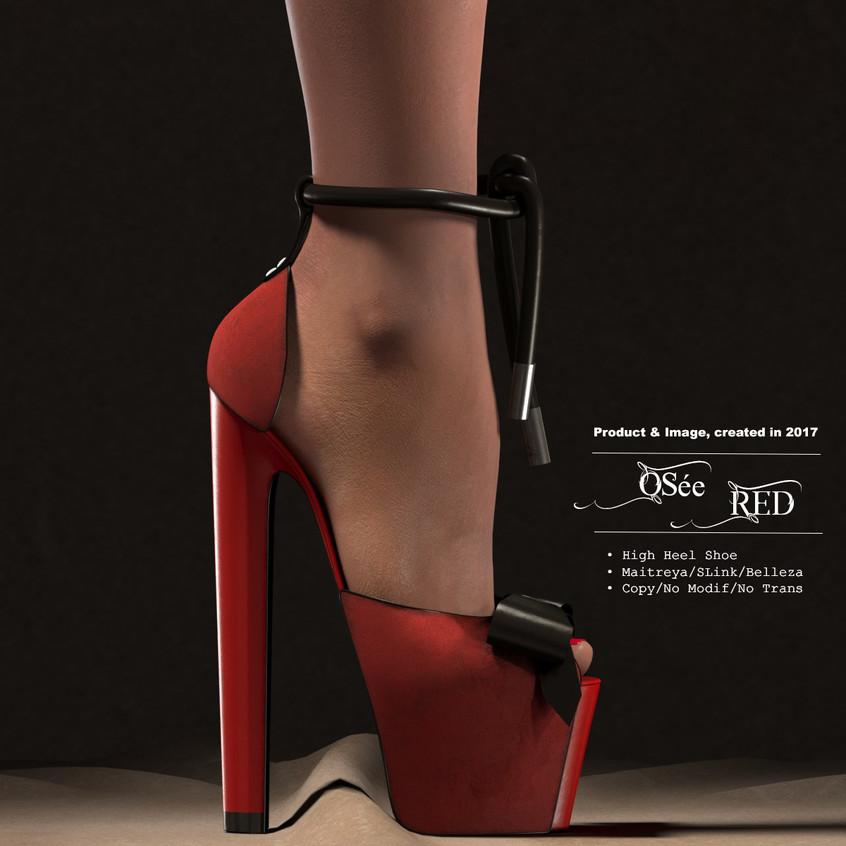 AZOURY_-_Osée_High_Heel_Shoe_[Red]
