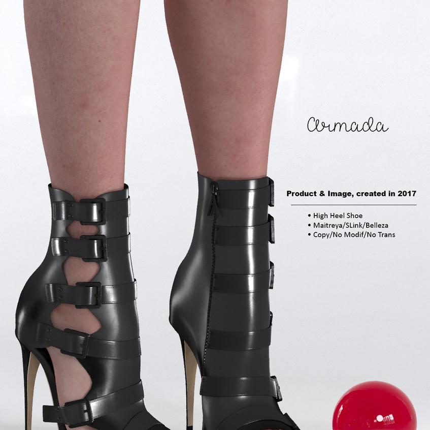 AZOURY - Armada High Heel Shoe [Black]