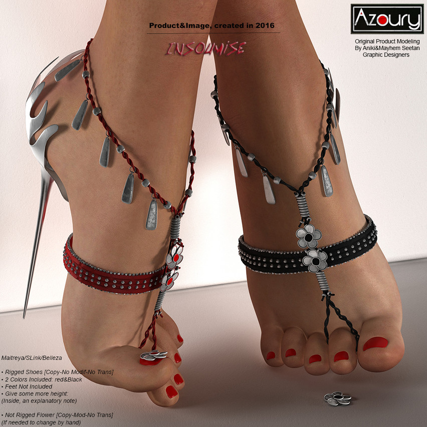 AZOURY - Insoumise Shoes [Black&Red] REWARD [1024x1024]