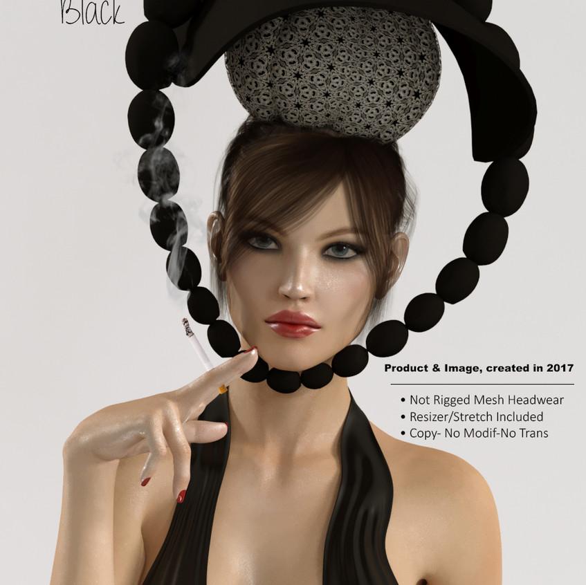 AZOURY - Doly Headwear [Black]