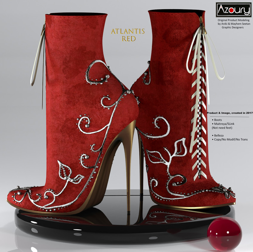 AZOURY - Atlantis Boots [Red]