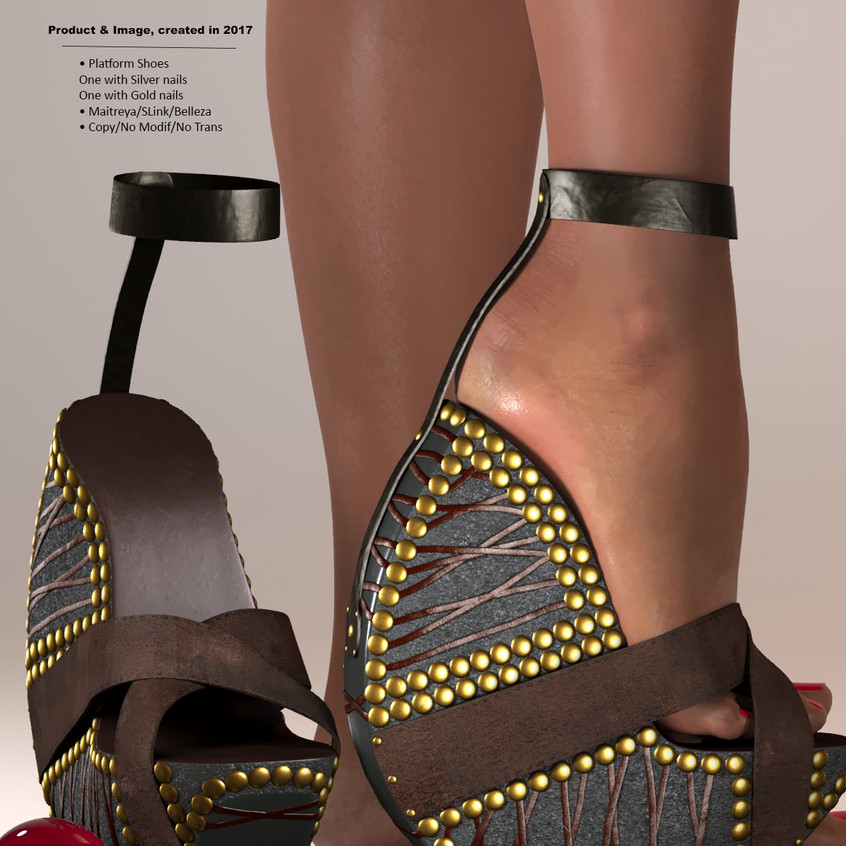 AZOURY - Ouroboros Platform Shoes [Brown]