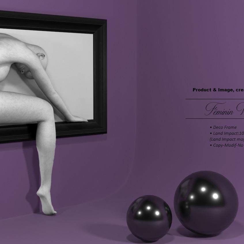 AZOURY - Feminin Frame [White]