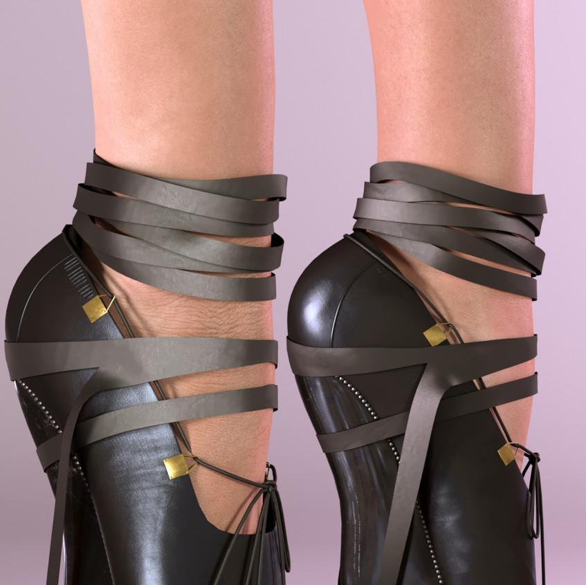 AZOURY - Josette Ballet Shoes SLink Pointe [Black]