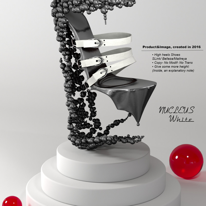 AZOURY - Nucleus High Heel Shoes [White]
