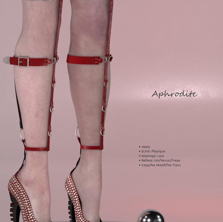AZOURY - Aphrodite Heels {Red}