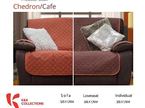 Protector de sillón Chedrón /Café
