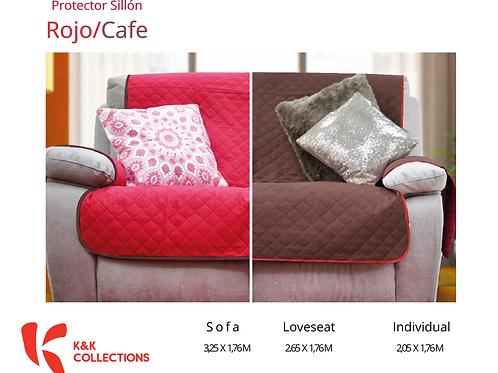 Protector de sillón Rojo/Café