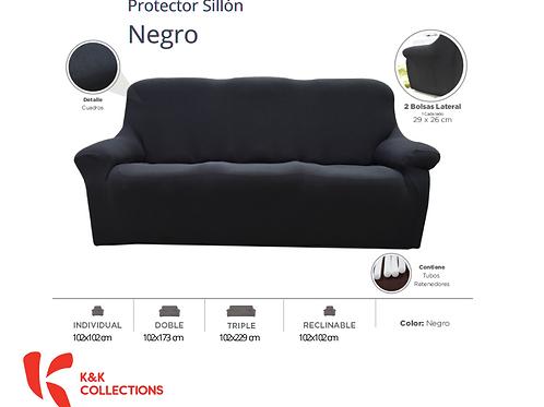 Protector de sillón Negro