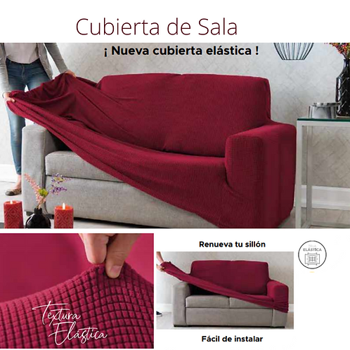 Cubierta de Sala Niza Rojo