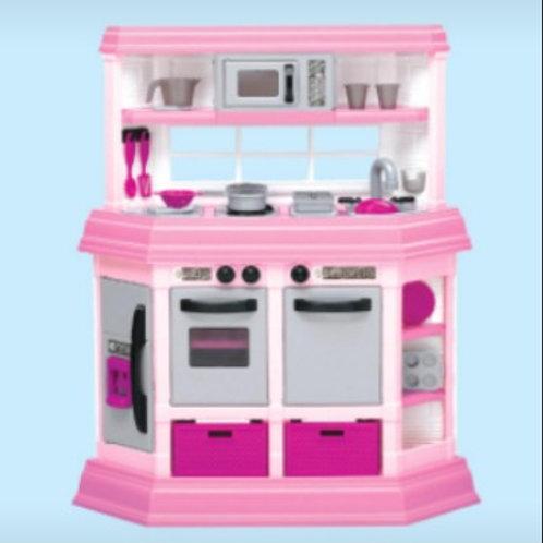 Cocina de lujo rosada