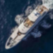 Super yacht cruising in the ocean