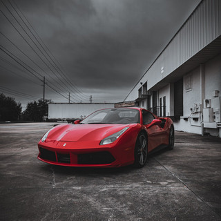 Ferrari 488 before the storm by Coppola Concierge