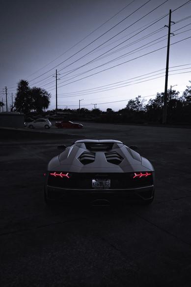 Aventador S Roadster Evening