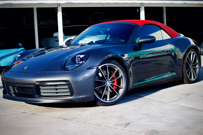 Grey Porsche careers 4S red top up by Co