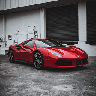 Ferrari 488 Spyder warehouse by Coppola Concierge