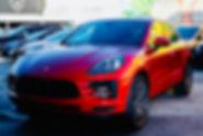 Porsche Macan S front  new headlights by