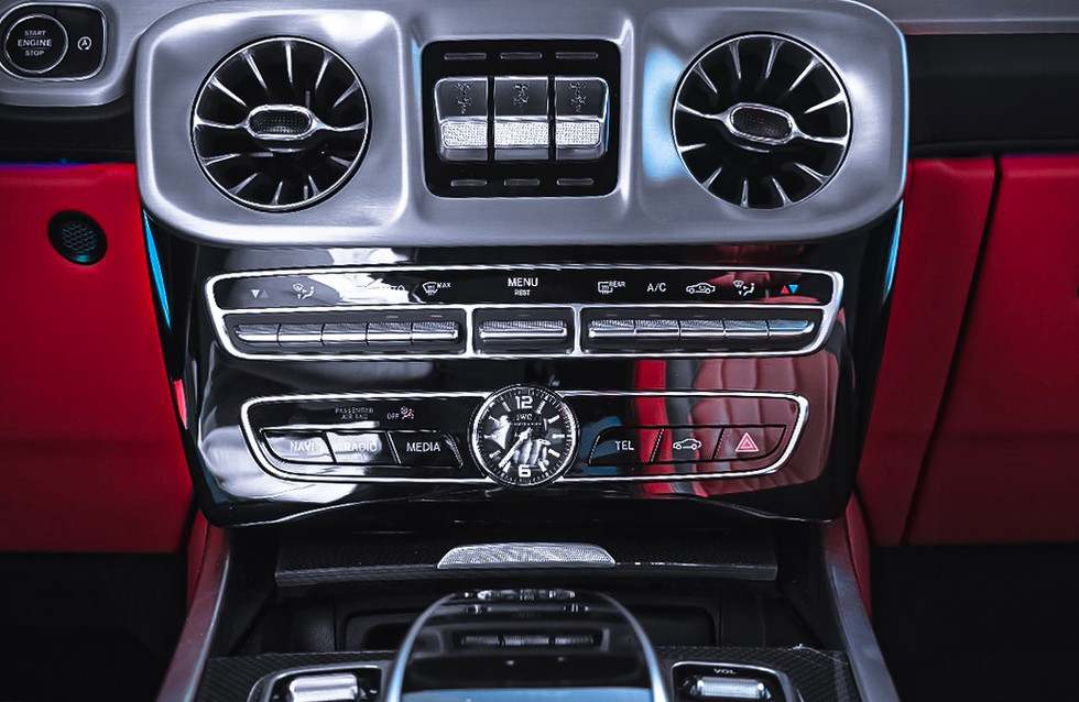 Entertainment system in the all new G63