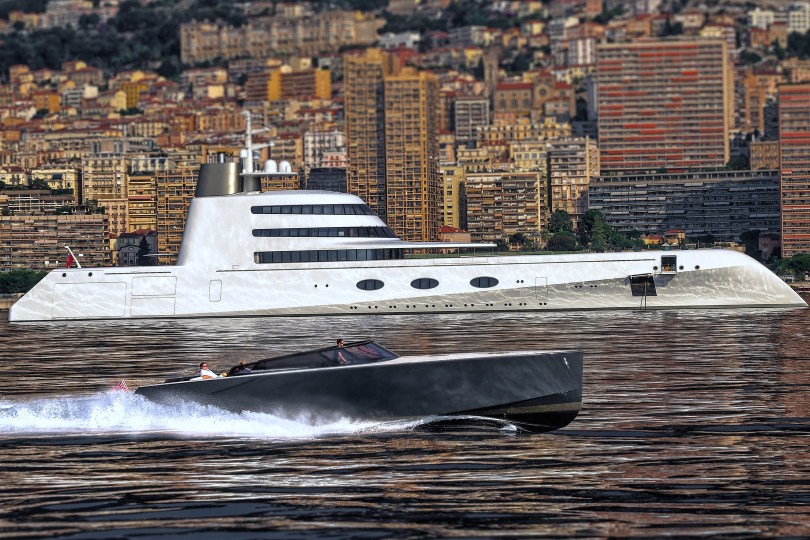 VanDutch 55 with Motor Yacht A