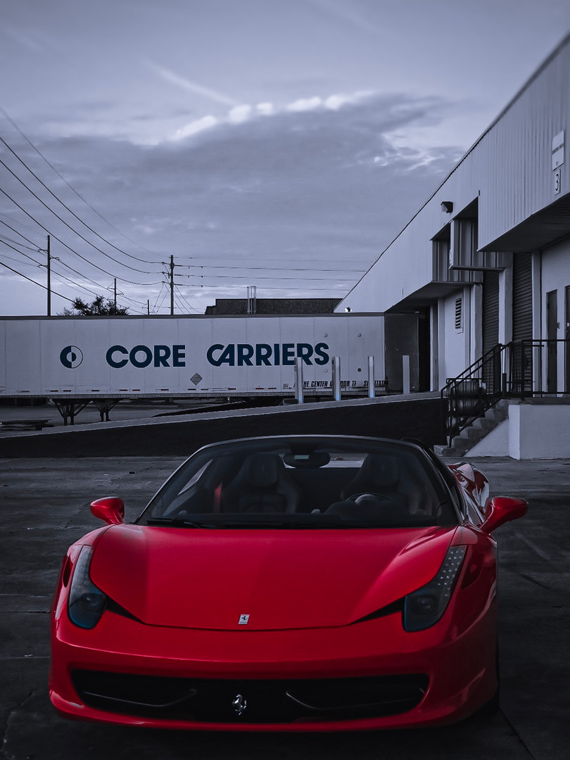 Ferrari 458 by Coppola Concierge Black and Red