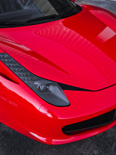Ferrari 458 Frontal close up by Coppola Concierge