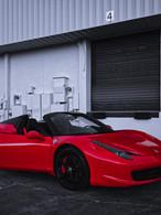 Ferrari 458 side view front Coppola Conc