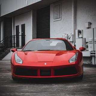 Ferrari 488 Frontal view by Coppola Concierge