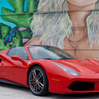 Ferrari 488 Spyder frontal view by Coppola Concierge