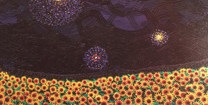 夜の向日葵畑 3