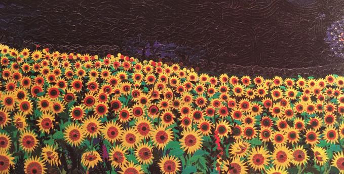 夜の向日葵畑 2