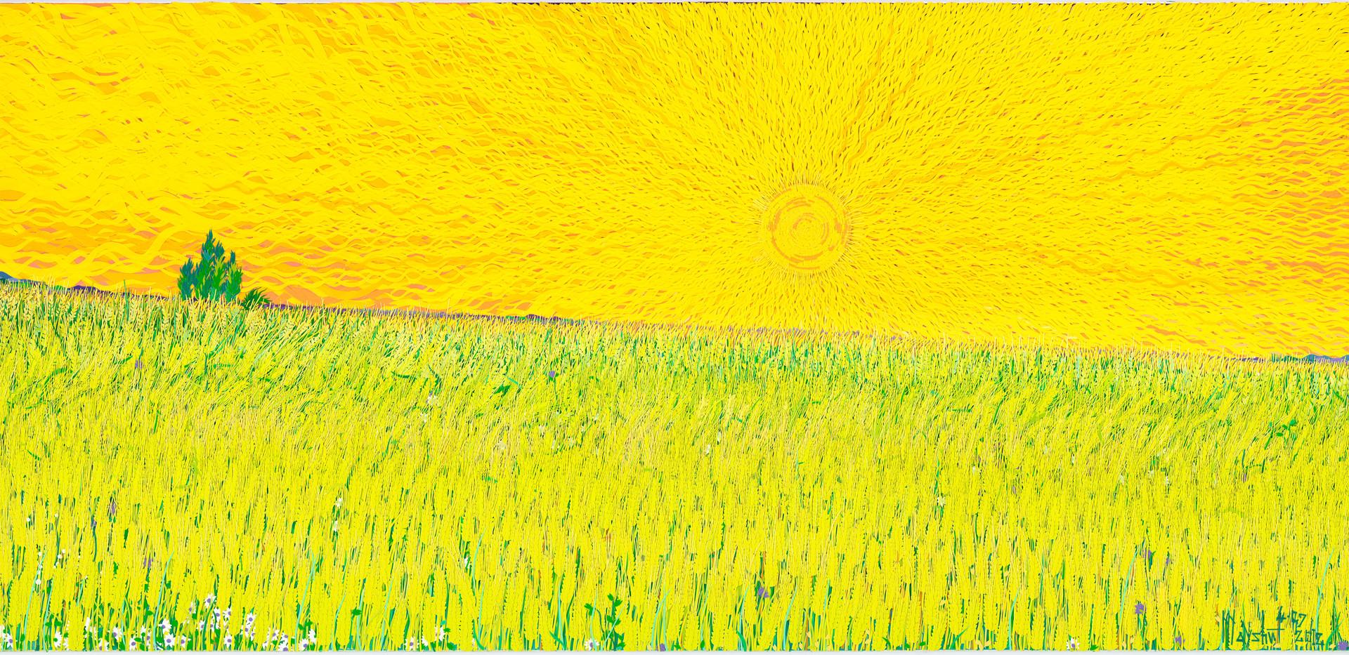 太陽と麦畑2