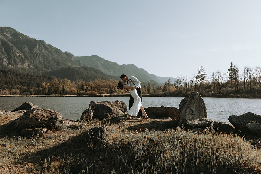 Columbia River Gorge elopement