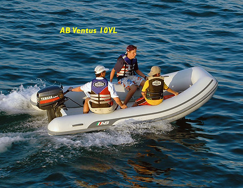 "AB Ventus VL (8'6"" to 12' Fiberglass Hull no Bow Locker)"