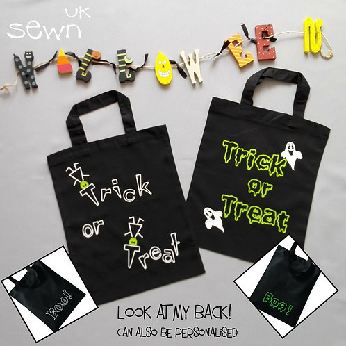 Halloween Trick or Treat Bags with or without personalisation