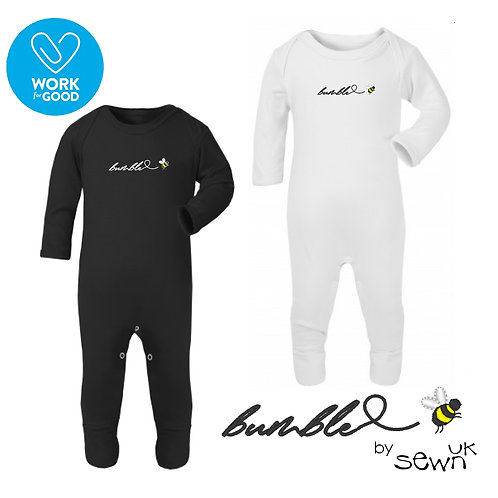 Bumble Bee Embroidered Rompersuit