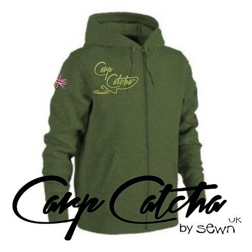 Carp Catcha Embroidered Zip Up
