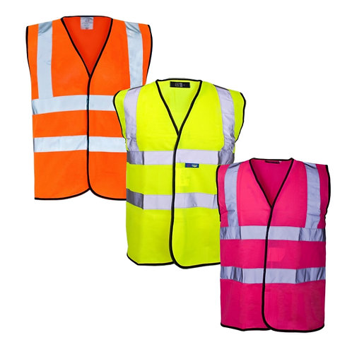 Hi Vis Vest - Black Binding