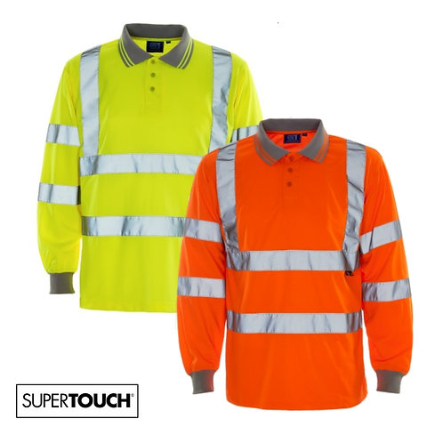 Supertouch - Hi Visibility Long Sleeve Polo
