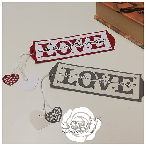 'Love' Bookmark.  Perfect little gift for Valentine's Day!