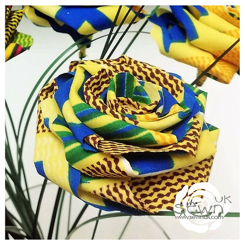Calm - Handmade African Fabric Roses