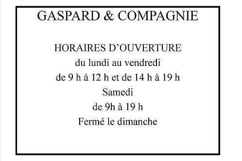Sticker adhésif      HORAIRES D'OUVERTURE